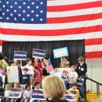 Rick Santorum Rally at Peachtree-DeKalb Airport in Atlanta