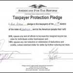 Bob Barr signs Americans for Tax Reform Pledge