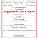 Jack Kingston preparing Kickoff May 3, 2013