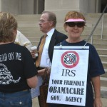 Signs, signs, everywhere signs – at the Tea Party Rally against Obamacare